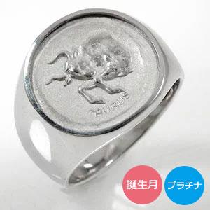 マリッジリング ペア 12星座 プラチナ 印台 2本セット 結婚指輪 送料無料