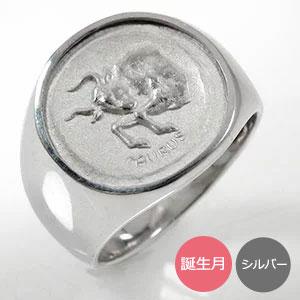 ペアリング 12星座 結婚指輪 マリッジ シルバー925 印台 2本セット【送料無料】