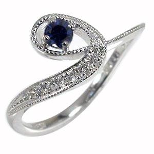 21日20時~28日1時まで 【あす楽対応商品】流れ星 サファイア ピンキー リング 18金 ダイヤモンド ルメート 指輪 送料無料 買いまわり 買い回り