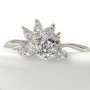 ダイヤモンド リング指輪 誕生石 10金 光輪 太陽 陽光 ピンキー【送料無料】