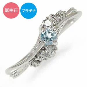 誕生石 リング 絆 プラチナ 指輪 ピンキーリング 送料無料 キャッシュレス ポイント還元