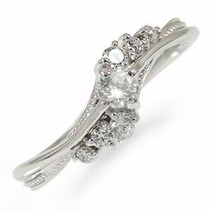【送料無料】ダイヤモンド リング指輪 誕生石 10金 絆 ピンキー