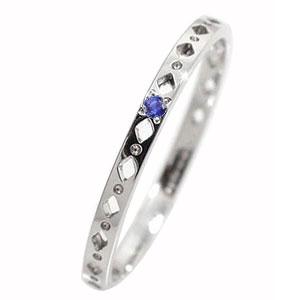 21日20時~28日1時まで サファイア エタニティーリング ひし形 プラチナ900 ピンキーリング 指輪【送料無料】 買いまわり 買い回り