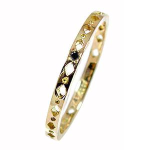 エタニティーリング ひし形 10金 ダイヤモンド ピンキーリング 指輪 メンズ