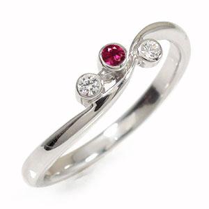 21日20時~28日1時まで ルビー リング プラチナ ピンキー 誕生石 トリロジー 指輪【送料無料】 買いまわり 買い回り