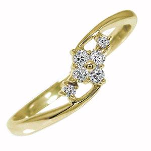 【送料無料】ひし形 10金 誕生石 ピンキーリング ダイヤモンド 結婚指輪 婚約指輪 エンゲージリング