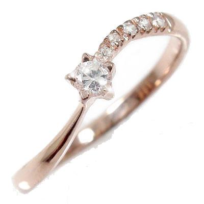 21日20時~28日1時まで ダイヤモンド 指輪 流れ星 k18ピンクゴールド k18PG ピンキーリング レディース ユニセックス 誕生日 2017 記念日 母の日 プレゼント【送料無料】 買いまわり 買い回り