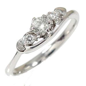 【送料無料】ダイヤモンド リング プラチナ トリロジー ピンキー ハート 結婚指輪 婚約指輪 エンゲージリング 誕生石