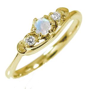 21日20時~28日1時まで トリロジー 誕生石 ピンキーリング 10金 ブルームーンストーン ダイヤモンド ハート 指輪【送料無料】 買いまわり 買い回り