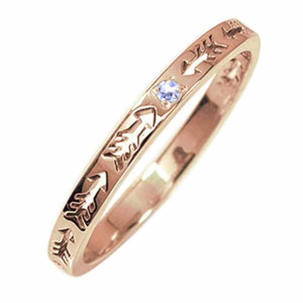 10/4 20時~ ピンキーリング 18金 タンザナイト インディアンジュエリー ネイティブアメリカン 誕生石 矢 アロー 大人 エタニティ 結婚指輪 メンズ マリッジリング 買い回り 買いまわり