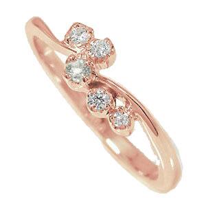 【送料無料】ピンキーリング 18金 ダイヤモンド 天使の矢 流れ星 結婚指輪 婚約指輪 エンゲージリング 誕生石