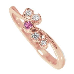 21日20時~28日1時まで ピンキーリング 18金 ピンクトルマリン 天使の矢 ダイヤモンド 誕生石 流れ星 指輪【送料無料】 買いまわり 買い回り