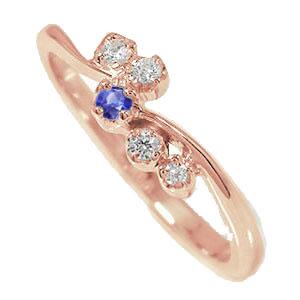 9日20時~16日1時まで ピンキーリング 18金 サファイア ダイヤモンド 流れ星 指輪 誕生石 天使の矢 送料無料 キャッシュレス ポイント還元 買いまわり 買い回り