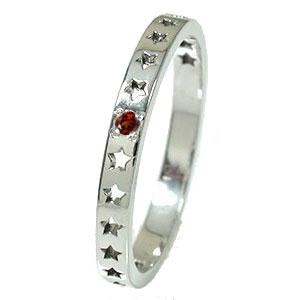 ガーネット リング プラチナ 誕生石 流れ星 ピンキー スター 星 エタニティー 結婚指輪 マリッジリング【送料無料】