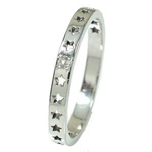 ダイヤモンド リング プラチナ 流れ星 ピンキー スター 星 エタニティー 結婚指輪 マリッジリング 誕生石【送料無料】