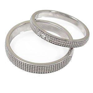 ダイヤモンド リング プラチナ マリッジリング ミルグレイン 2本セット 結婚指輪 ペア 指輪 誕生石 レディース メンズ セット価格 送料無料