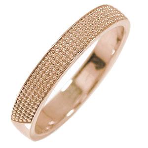 18金 マリッジリング ミルグレイン 結婚指輪 指輪 地金 メンズ 送料無料