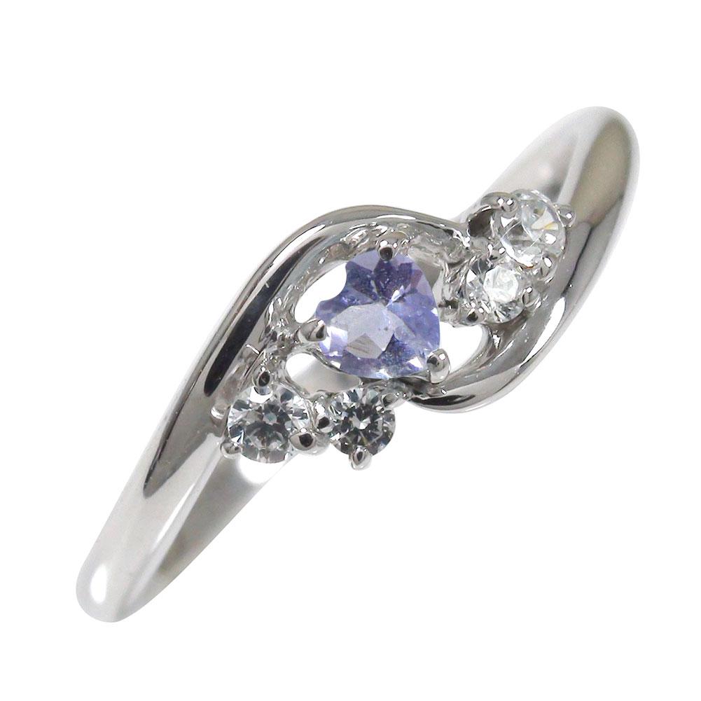 タンザナイト リング プラチナ ハート 誕生石 ダイヤモンド 指輪 絆 ピンキー【送料無料】