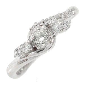 【送料無料】ダイヤモンドリング 18金 結婚指輪 婚約指輪 エンゲージリング 0.27ct ダイヤモンド ピンキーリング レディース ユニセックス 誕生日 2017 記念日 母の日 プレゼント