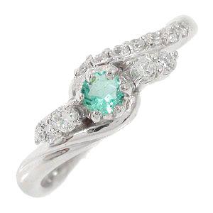 21日20時~28日1時まで エメラルドリング 18金 指輪 0.17ct ダイヤモンド ピンキーリング レディース ユニセックス 誕生日 2017 記念日 母の日 プレゼント【送料無料】 買いまわり 買い回り