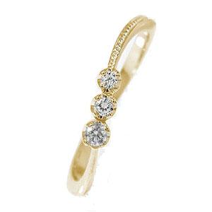 【送料無料】彗星 10金 誕生石 ピンキーリング ダイヤモンド コメット 結婚指輪 婚約指輪 エンゲージリング