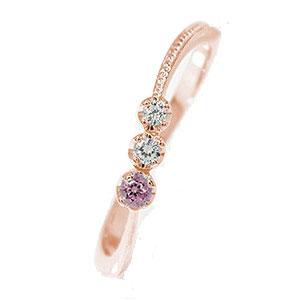 10/4 20時~ ピンキーリング 18金 ピンクトルマリン 彗星 ダイヤモンド 誕生石 コメット 指輪 送料無料 買い回り 買いまわり