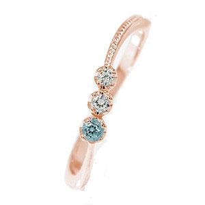 21日20時~28日1時まで ピンキーリング 18金 ブルートパーズ ダイヤモンド 彗星 コメット 指輪 誕生石【送料無料】 買いまわり 買い回り