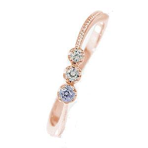 21日20時~28日1時まで ピンキーリング 18金 タンザナイト 彗星 誕生石 コメット 指輪 ダイヤモンド【送料無料】 買いまわり 買い回り