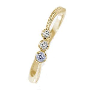彗星 10金 ピンキーリング 誕生石 コメット 指輪 タンザナイト ダイヤモンド【送料無料】