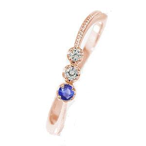 10/4 20時~ ピンキーリング 18金 サファイア ダイヤモンド コメット 指輪 誕生石 彗星 送料無料 買い回り 買いまわり