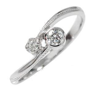 【送料無料】ダイヤモンド リング プラチナ 満月 ピンキー クール 結婚指輪 婚約指輪 エンゲージリング 誕生石