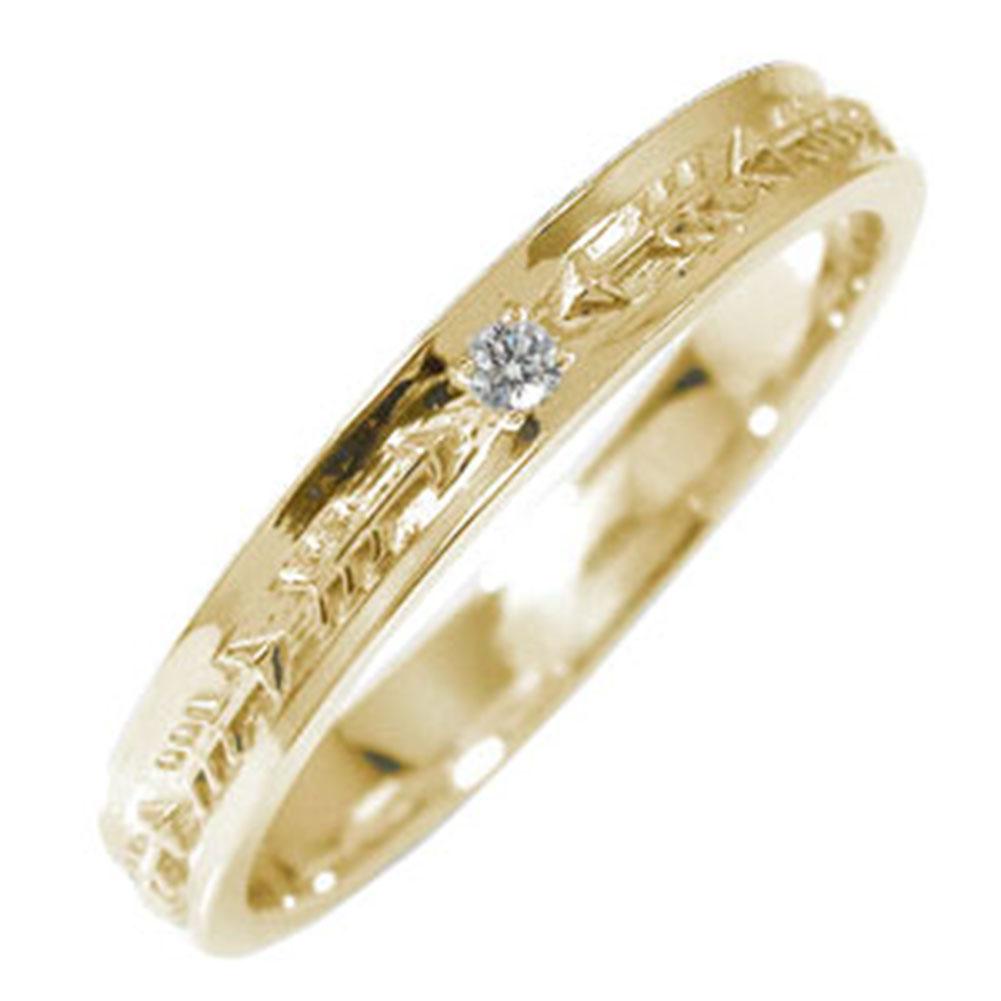 インディアンジュエリー ネイティブアメリカン 10金 誕生石 ピンキーリング ダイヤモンド 矢 アロー 大人 エタニティ 指輪【送料無料】