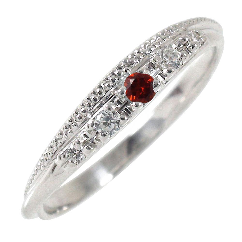 21日20時~28日1時まで ピンキーリング ガーネット 10金 指輪 ミル ダイヤモンドリング【送料無料】 買いまわり 買い回り
