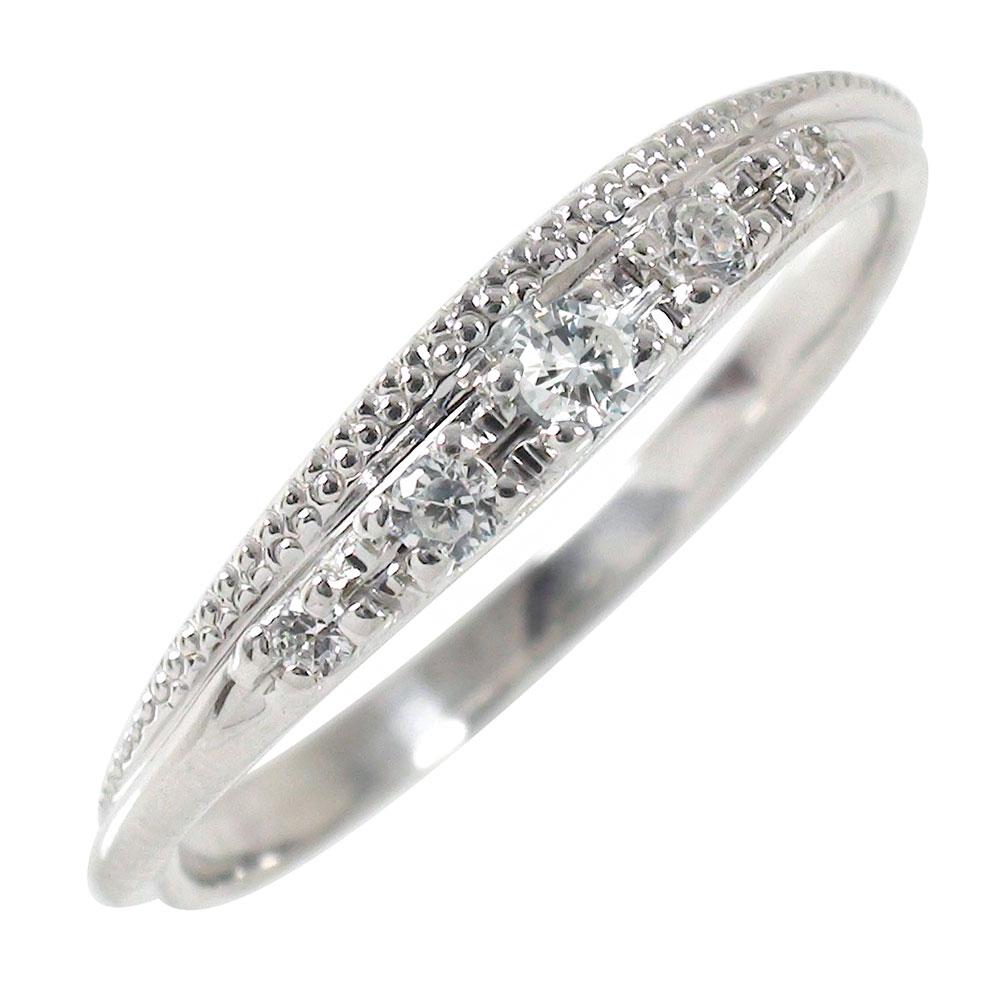 【送料無料】ダイヤモンド 10金 結婚指輪 婚約指輪 エンゲージリング ダイヤモンド ミル ピンキーリング