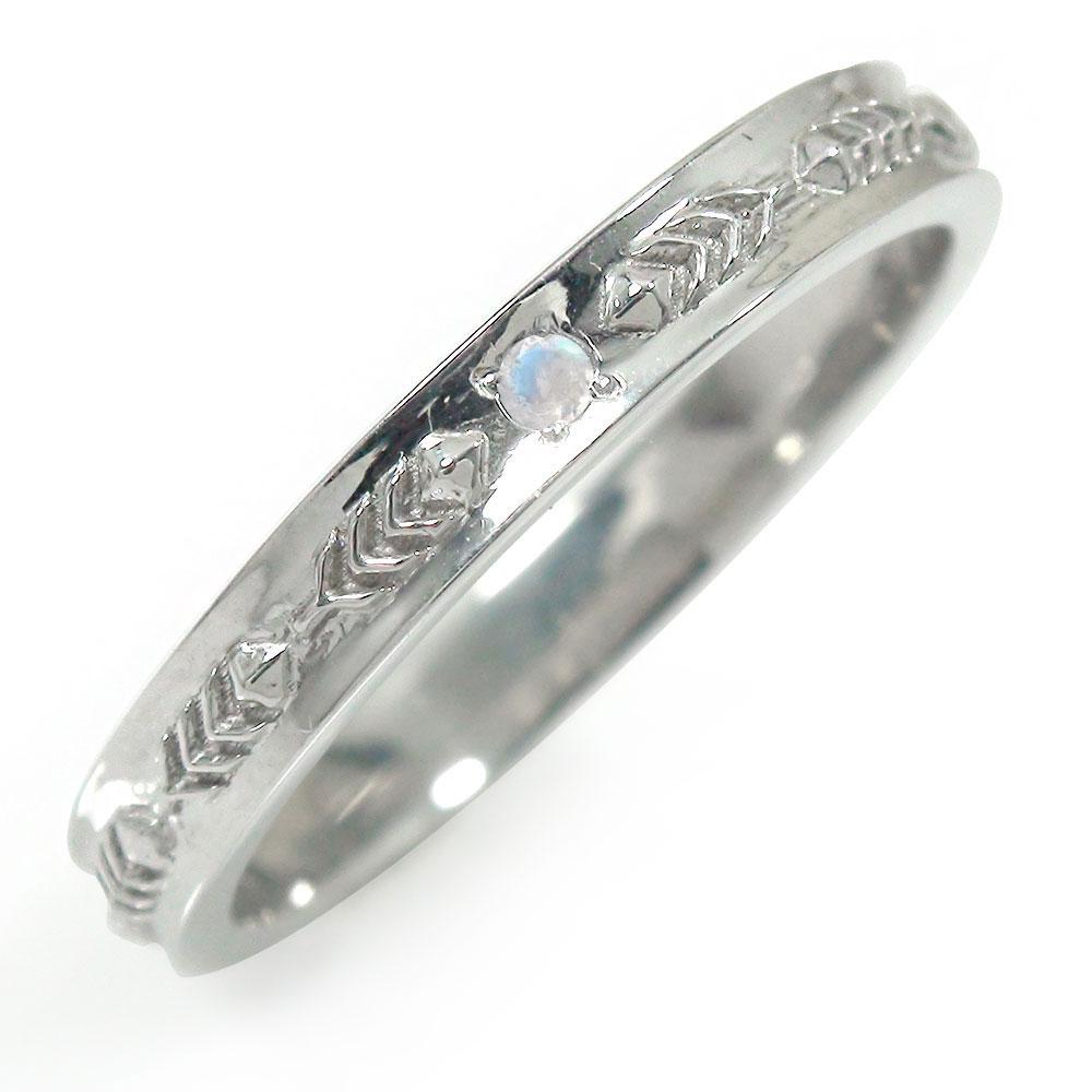 9日20時~16日1時まで ブルームーンストーン リング プラチナ インディアンジュエリー ネイティブアメリカン 誕生石 ピンキー 羽根 フェザー 大人 エタニティ 指輪 買いまわり 買い回り