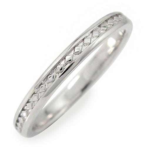 10/4 20時~ メンズリング 指輪 10金 地金 男性用 ホワイトゴールド ひし形モチーフ 送料無料 買い回り 買いまわり