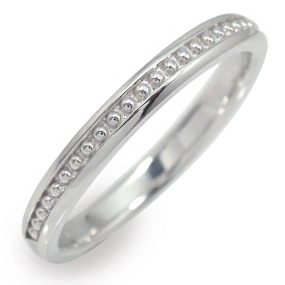 10/4 20時~ メンズリング 指輪 10金 地金 男性用 ホワイトゴールド ミル 送料無料 買い回り 買いまわり
