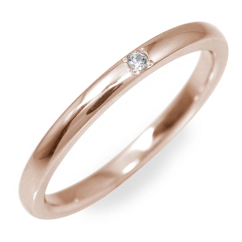 10/4 20時~ ダイヤモンド 指輪 地金 ピンクゴールド 18金 甲丸リング送料無料 買い回り 買いまわり