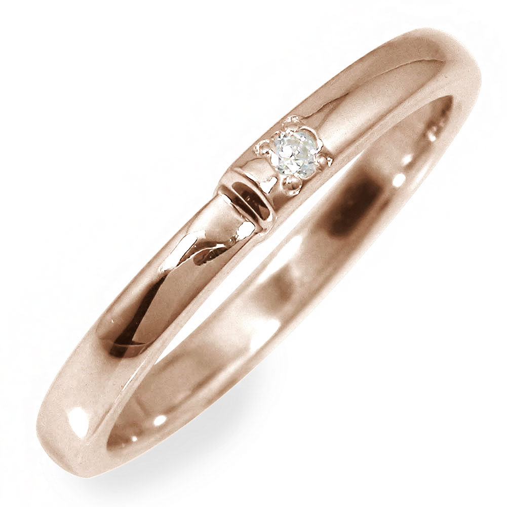 10/4 20時~ ダイヤモンド 指輪 リング 地金 ピンクゴールド 18金 送料無料 買い回り 買いまわり