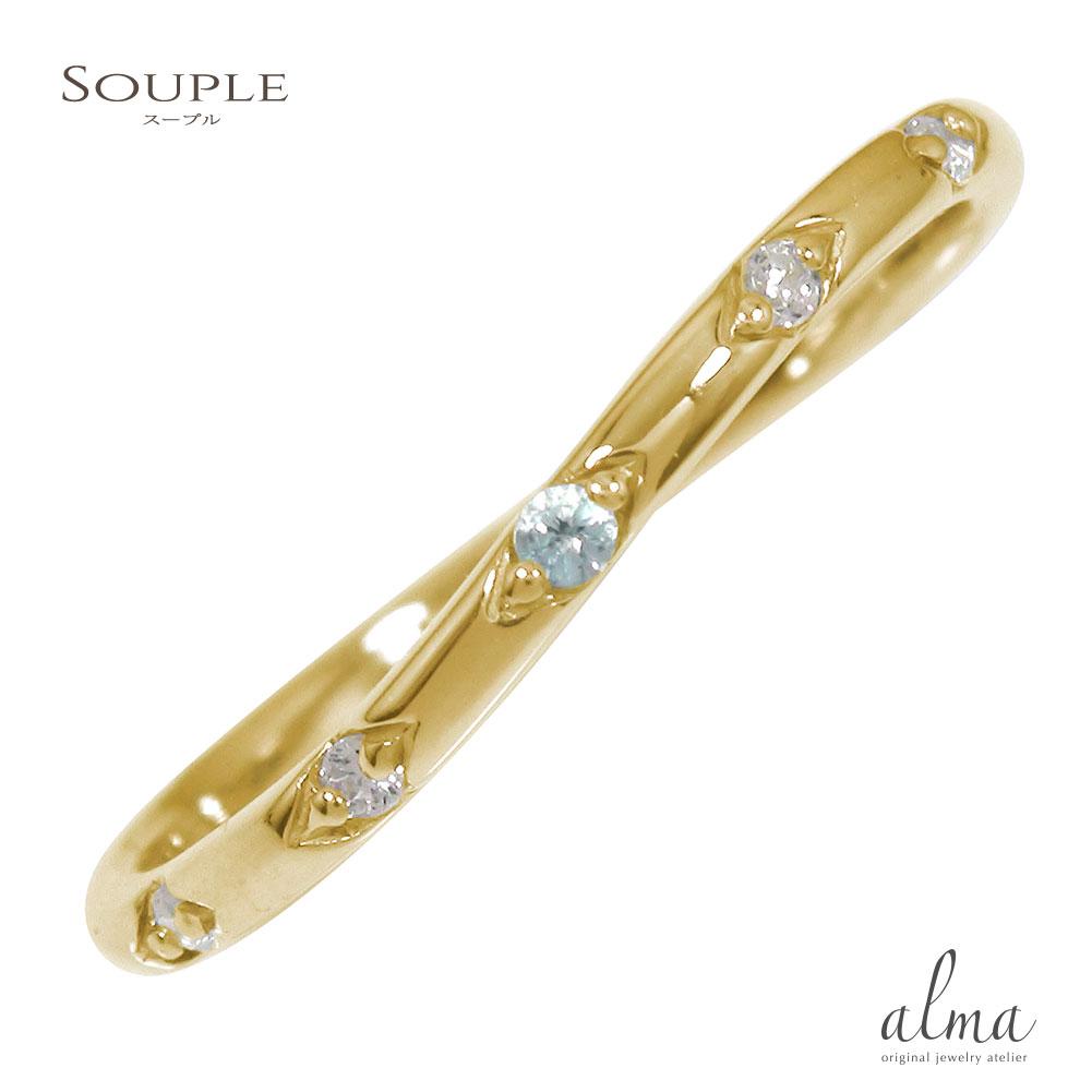 10/4 20時~ ブルートパーズ 10金 指輪 リング 誕生石 送料無料 買い回り 買いまわり