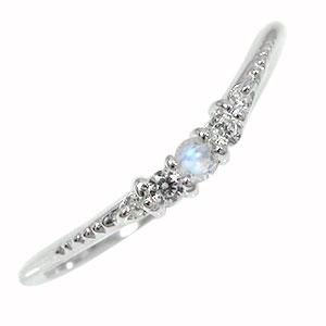 21日20時~28日1時まで ピンキーリング ブルームーンストーン 10金 誕生石 ダイヤモンド 指輪 シンプル リッチ【送料無料】 買いまわり 買い回り