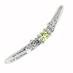 10/4 20時~ ピンキーリング ペリドット 10金 誕生石 ダイヤモンド 指輪 シンプル リッチ オシャレ 送料無料 買い回り 買いまわり
