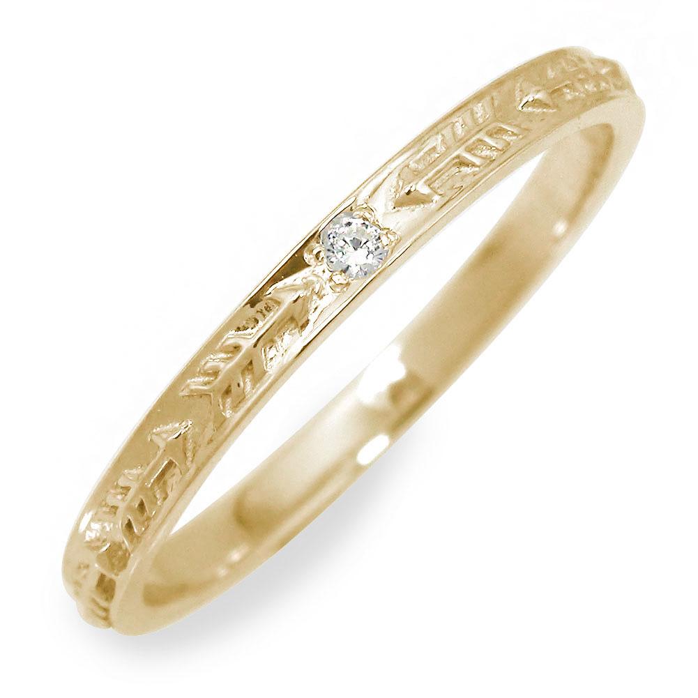10/4 20時~ ダイヤモンド リング イエローゴールド インディアン 指輪 18金 アロー 送料無料 買い回り 買いまわり