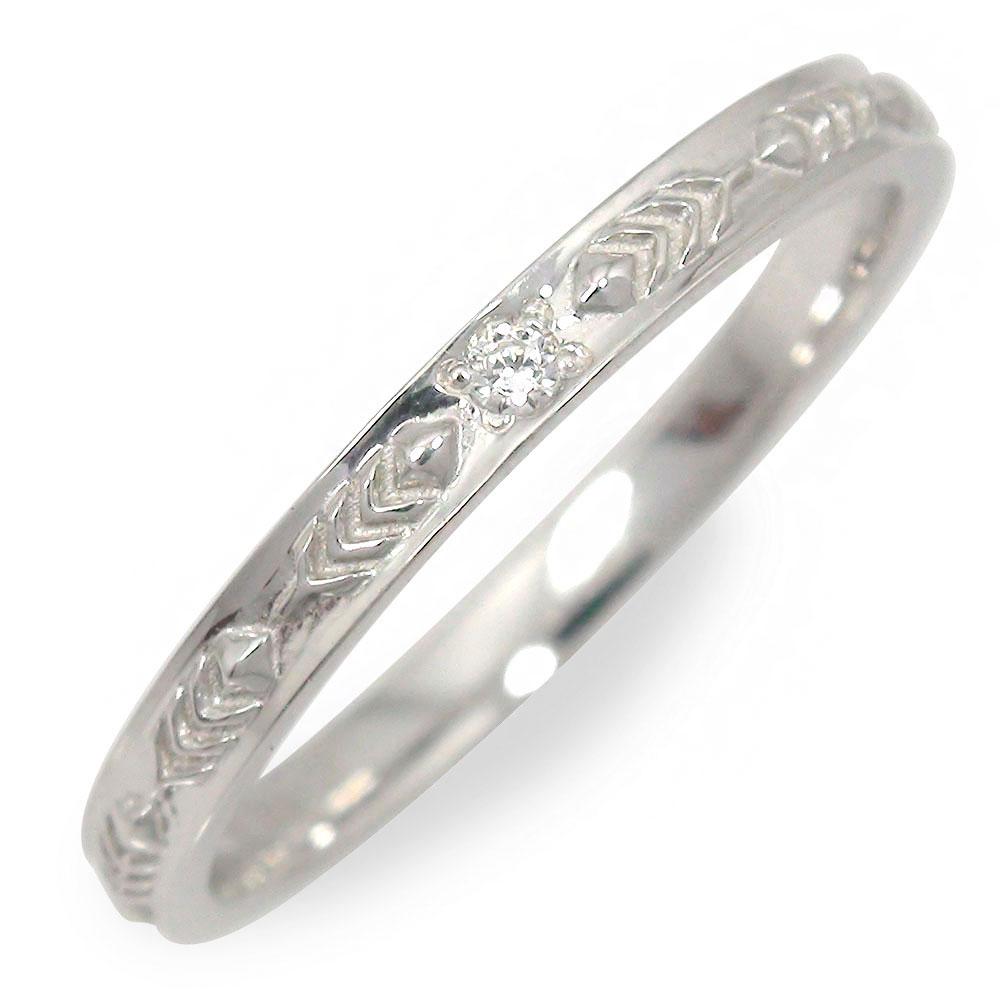 10/4 20時~ ダイヤモンド ホワイトゴールド インディアン 指輪 18金 フェザー 送料無料 買い回り 買いまわり