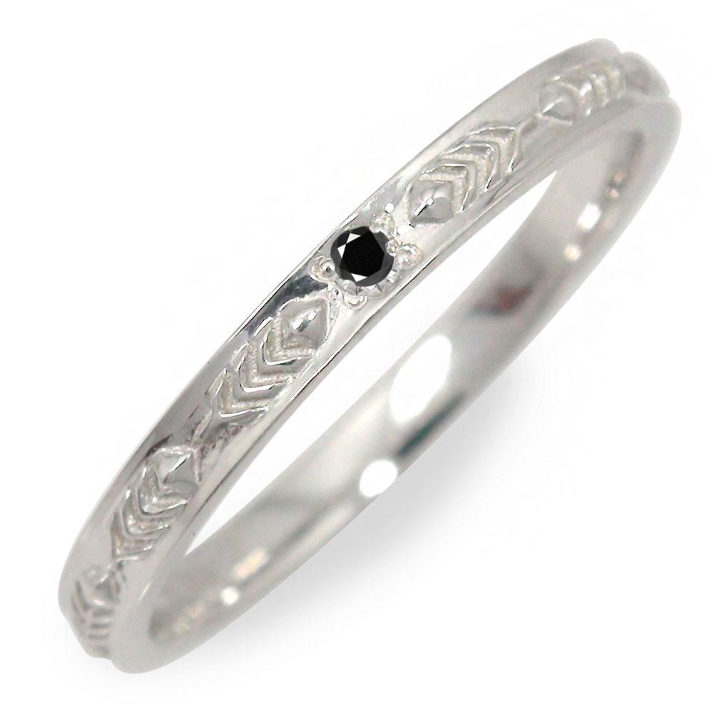 10/4 20時~ 18金 ブラックダイヤモンド メンズリング インディアン 指輪 地金 男性用 ホワイトゴールド フェザー 送料無料 買い回り 買いまわり