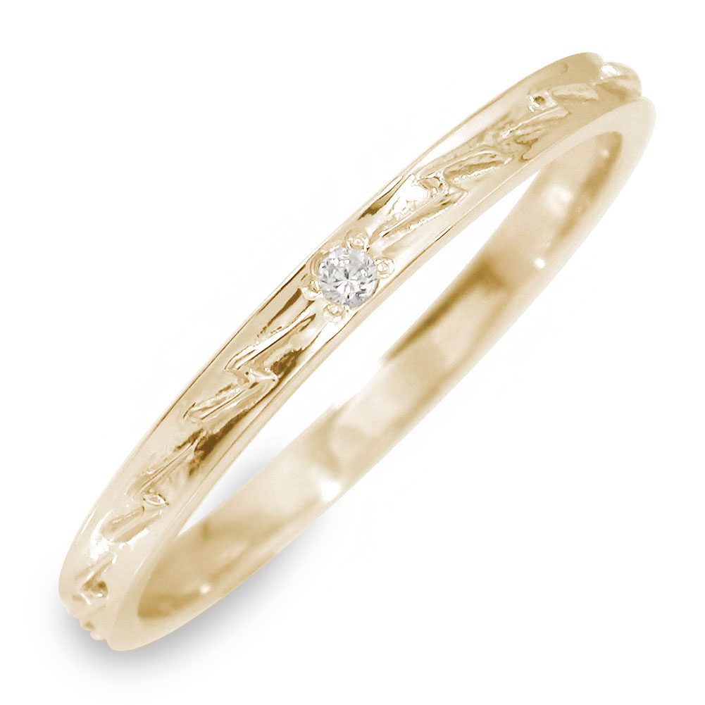 10/4 20時~ ダイヤモンド リング イエローゴールド インディアン 指輪 18金 サンダー 送料無料 買い回り 買いまわり