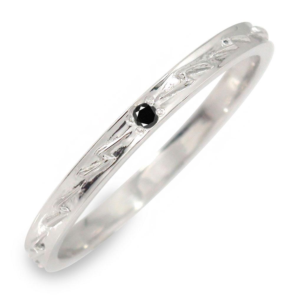 10/4 20時~ 18金 ブラックダイヤモンド メンズリング インディアン 指輪 地金 男性用 ホワイトゴールド サンダー 送料無料 買い回り 買いまわり