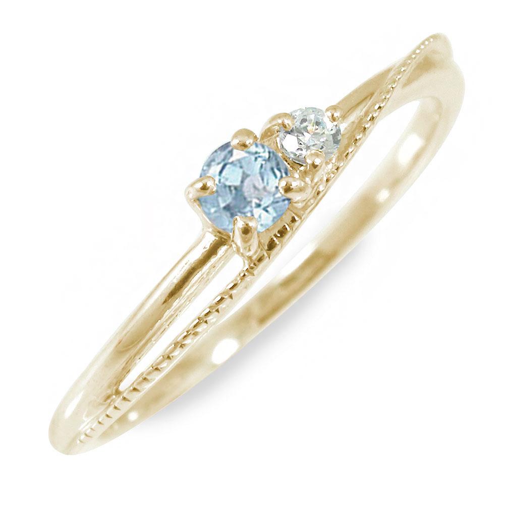 21日20時~28日1時まで アクアマリン 指輪 誕生石 リング 10金【送料無料】 買いまわり 買い回り