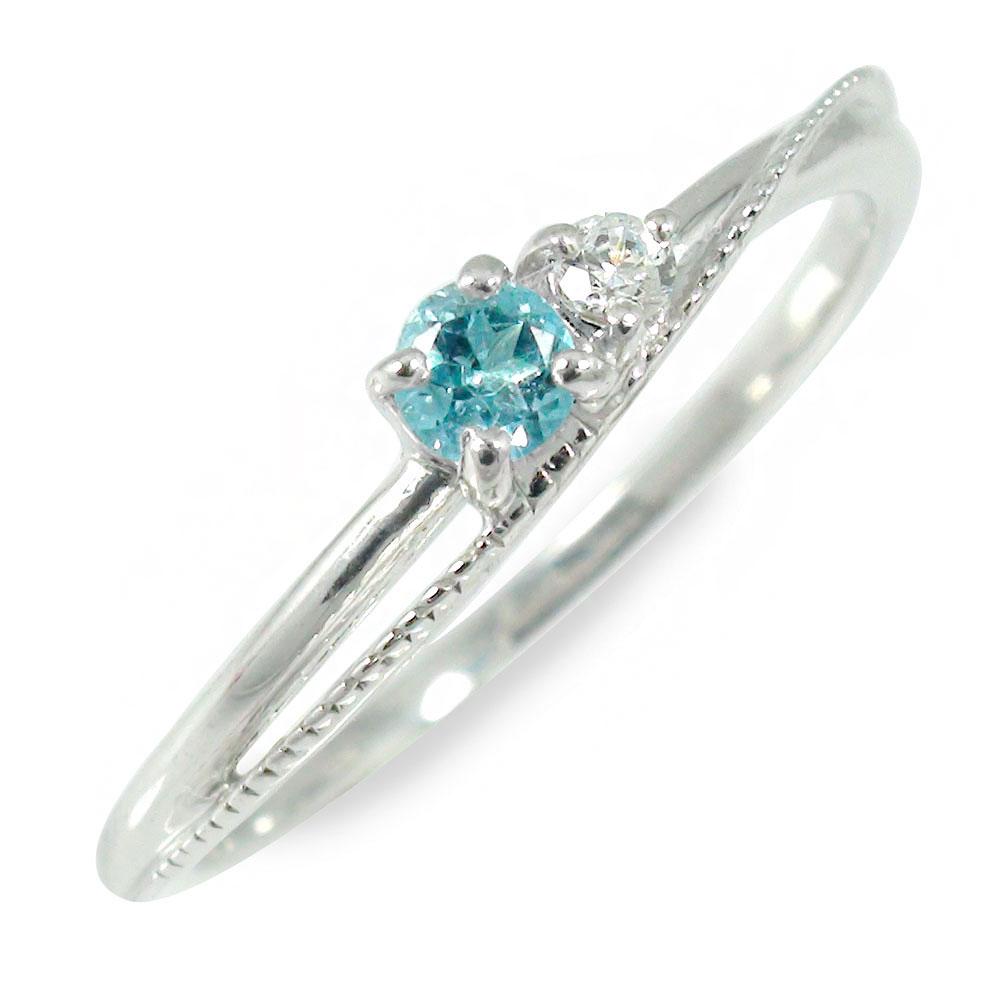 プラチナ ブルートパーズ リング 誕生石 指輪【送料無料】