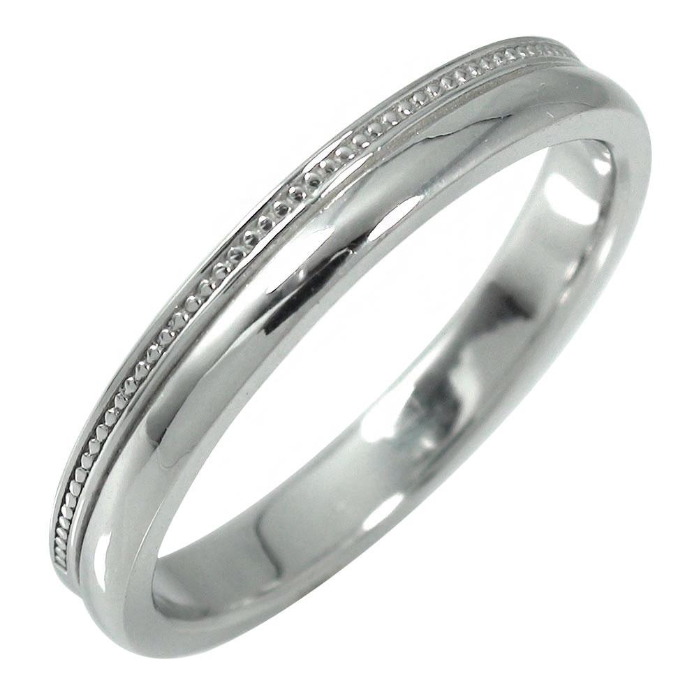 10/4 20時~ ミルグレイン メンズリング 指輪 10金 地金 男性用 ホワイトゴールド メタリック 宝石無し ストレート k10 甲丸 10~21号 送料無料 買い回り 買いまわり